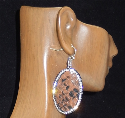 CD135 CLAY DRUZY SNAKESKIN EARRINGS
