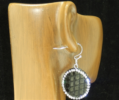 CD138 CLAY DRUZY SNAKESKIN EARRINGS