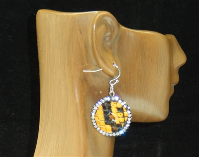 CD141 CLAY DRUZY SNAKESKIN EARRINGS
