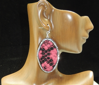 CD26 CLAY DRUZY SNAKESKIN EARRINGS