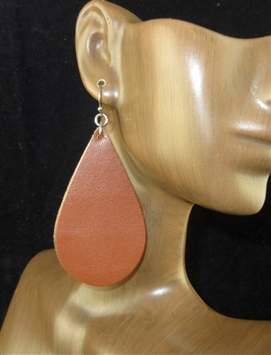 CE1102 TEARDROP LEATHER EARRINGS