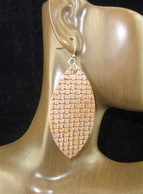 CE1103 METTALIC PATTERN EARRINGS