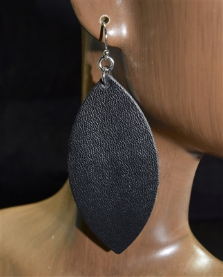CE1106 ANTIQUE LEATHER POST EARRINGS