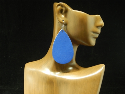 CE1115 LEATHER TEARDROP EARRINGS