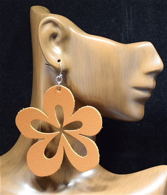 CE1723 FLOWER LEATHER EARRINGS