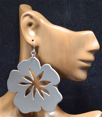 CE1724 TROPICAL LEATHER FLOWER EARRING