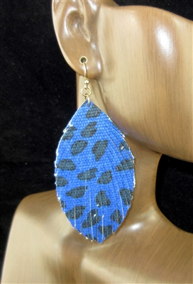 CE2263 LEATHER LEOPARD PRINT EARRINGS