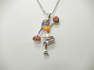 CN00133 ORANGE CHEERLEADER NECKLACE