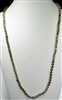 "CN368TP 36"" 8MM TWO-TONE SOLID CRYSTAL TAUPE NECKLACE"