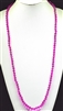 "CN368CFU 36"" 8MM FUSHA CRYSTAL NECKLACE"