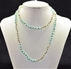 CN368CRAQ 36'' 8MM TWO TONE CRYSTAL NECKLACE