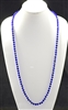 "CN368CRB 36"" 8MM ROYAL BLUE CRYSTAL NECKLACE"