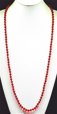 "CN368CRD 36"" 8MM CLEAR RED CRYSTAL NECKLACE"