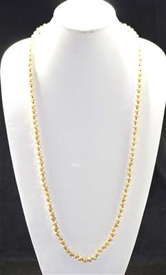 "CN368GBG 36"" 8MM BEIGE CRYSTAL NECKLACE"