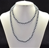 CN368GGY 36'' 8MM CRYSTAL GRAY BEADED NECKLACE