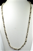 "CN368GN 36"" 8MM TWO-TONE IVORY/GRAY NECKLACE"