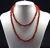 CN368GRD 36'' 8MM DARK RED CRYSTAL NECKLACE