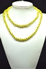 "CN368GYL 36"" 8MM YELLOW CRYSTAL NECKLACE"