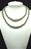 CN368MGR 36'' 8MM METALLIC GREEN CRYSTAL NECKLACE