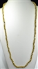 "CN368MU 36"" 8MM MUSTARD CRYSTAL NECKLACE"
