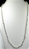 "CN368PLWH 36"" 8MM PEARL CRYSTAL BEADED NECKLACE"