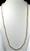 "CN368TN 36"" 8MM TWO-TONE BEIGE/IVORY NECKLACE"
