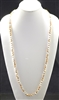 "CN368WTBR 36"" 8MM CRYSTAL TWO TONE NECKLACE"