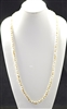 "CN368WTLB 36"" 8MM CRYSTAL TWO TONE NECKLACE"