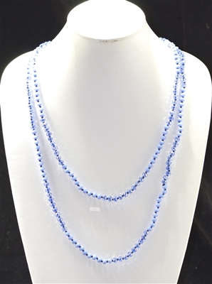 "CN606BBCB 60"" 6MM TWO TONE BABY BLUE CRYSTAL NECKLACE"