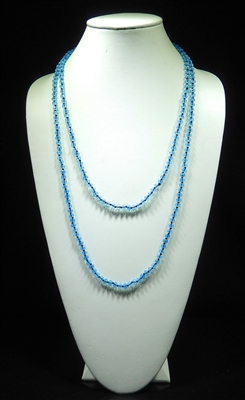CN606CBB 60'' 6MM CLEAR BABY BLUE CRYSTAL NECKLACE