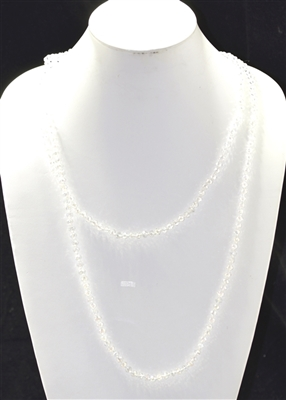 "CN606CCR 60"" 6MM CLEAR CRYSTAL NECKLACE"