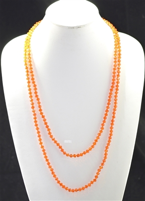"CN606COG 60"" 6MM ORANGE CRYSTAL NECKLACE"