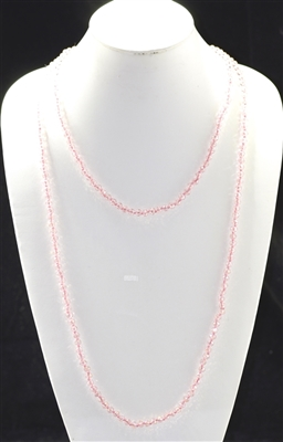 "CN606CPK 60"" 6MM PINK CRYSTAL NECKLACE"