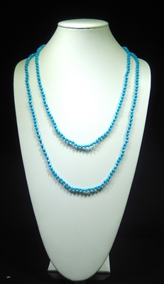 CN606GAQ 6MM 60'' BRIGHT AQUA CRYSTAL NECKLACE