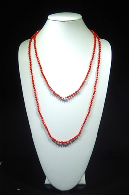 CN606GCO 60'' 6MM CORAL CRYSTAL NECKLACE