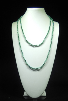 CN606GDM 60'' 6MM DARK MINT CRYSTAL NECKLACE