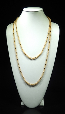 CN606GNA 60'' 6MM NATURAL CRYSTAL NECKLACE