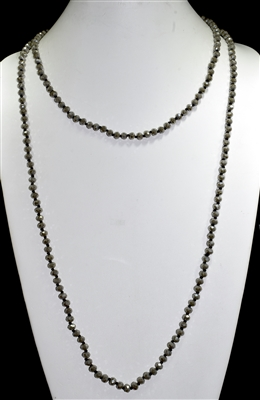 "CN606GOL 60"" 6MM OLIVE CRYSTAL NECKLACE"