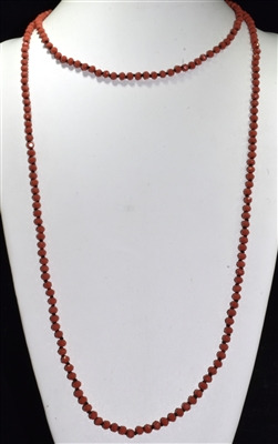 CN606GRD 60'' 6MM RED CRYSTAL NECKLACE