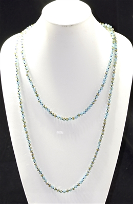 "CN606GYTQ 60"" 6MM GRAY BLUE CRYSTAL NECKLACE"