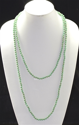 CN606MGN 60'' 6MM MATTE GREEN MINT CRYSTAL NECKLACE