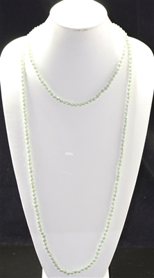 "CN606MLG 60"" 6MM MATTE LIGHT GREEN CRYSTAL NECKLACE"