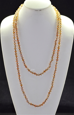 "CN608ABBR 60"" 8MM AB BROWN CRYSTAL NECKLACE"