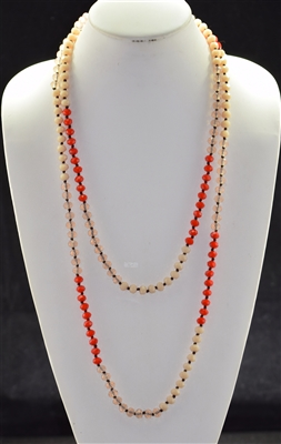 "CN608CCCO 60"" 8MM TRI-COLOR CRYSTAL NECKLACE"