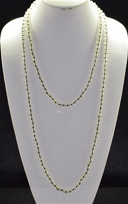 "CN608COC 60"" 8MM OFF NATURAL CLEAR CRYSTAL NECKLACE"