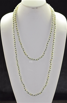 "CN608GIV 60"" 8MM IVORY CRYSTAL NECKLACE"