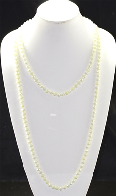"CN608GOW 60"" 8MM OFF WHITE CRYSTAL NECKLACE"