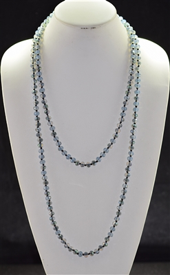 "CN608GYBL 60"" 8MM GRAY BLUE CRYSTAL NECKLACE"