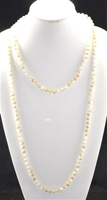 "CN608IVBG 60"" 8MM IVORY BEIGE CRYSTAL NECKLACE"