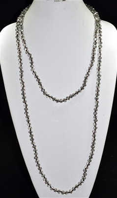 "CN608CBD 60"" 8MM BLACK DIAMOND CRYSTAL NECKLACE"